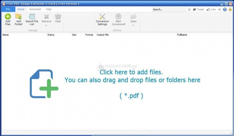 Pantallazo Free PDF Image Extractor