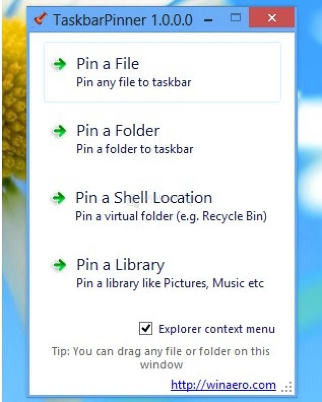 Pantallazo Taskbar Pinner