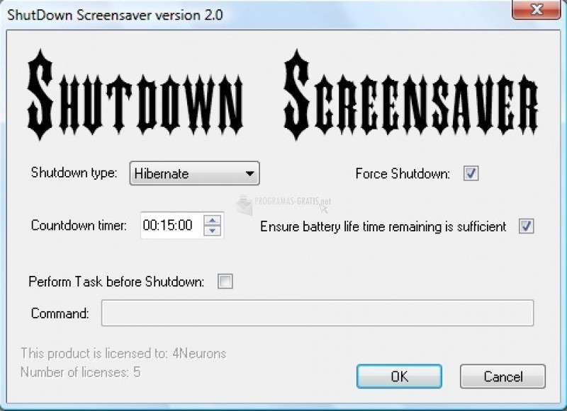 Pantallazo Shutdown Screensaver