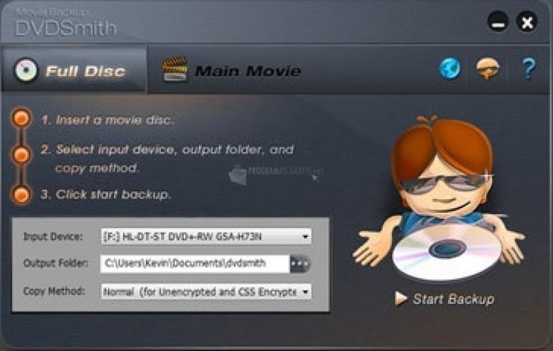 Pantallazo DVDSmith Movie Backup