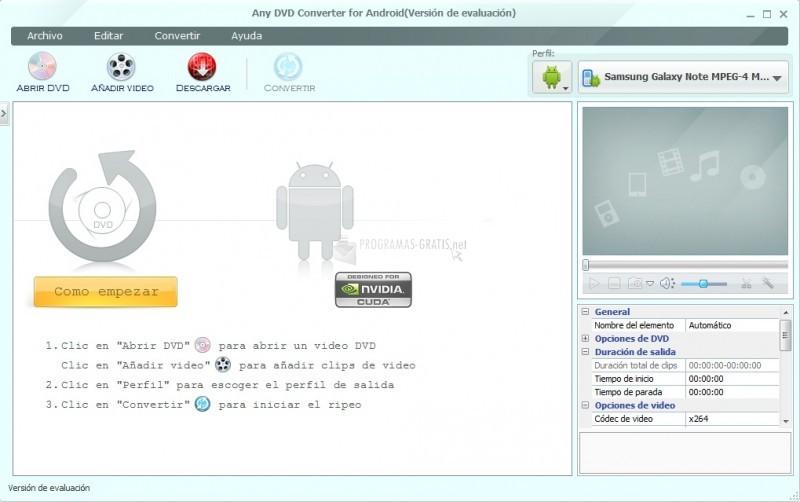 Pantallazo Any DVD Converter for Android