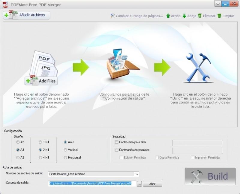 Bajar Free PDF Merger 1.03 En Español