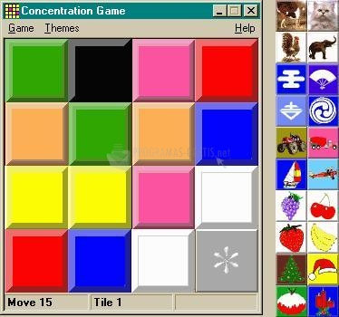 Pantallazo Concentration Game