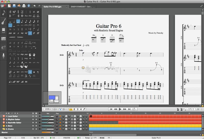 Pantallazo Guitar Pro Fretlight