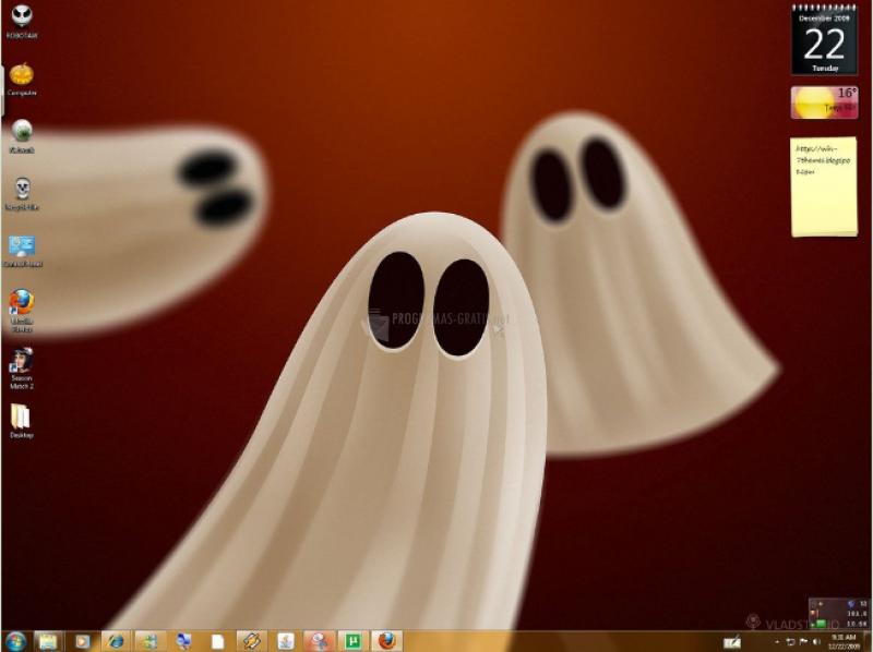 Pantallazo Halloween Windows 7 Theme