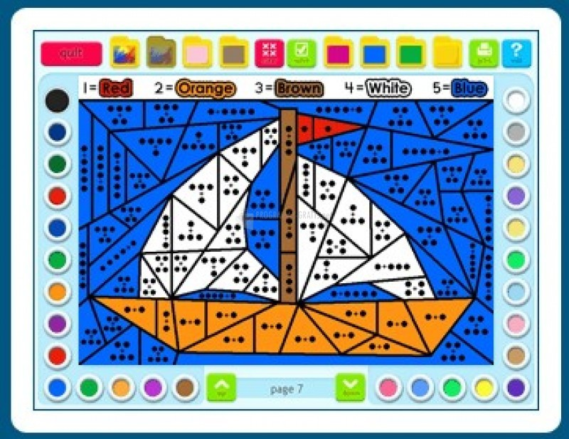 Pantallazo Math Coloring Book: Grade 1