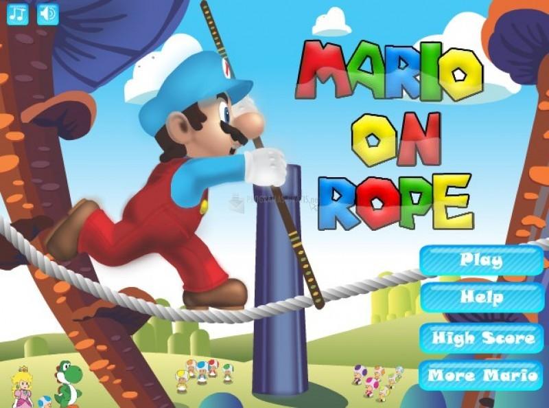 Pantallazo Mario on Rope