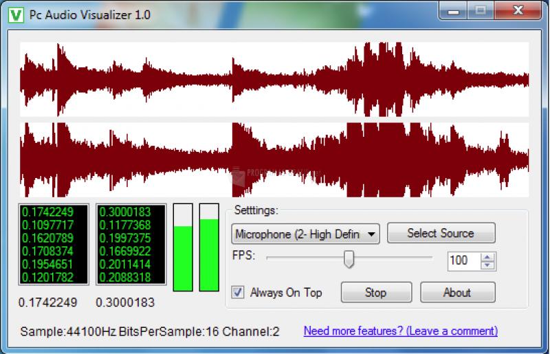 Pantallazo PC Audio Visualizer
