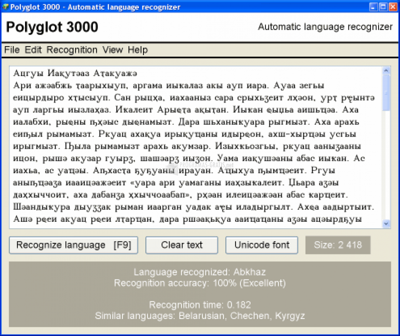 Pantallazo Polyglot 3000