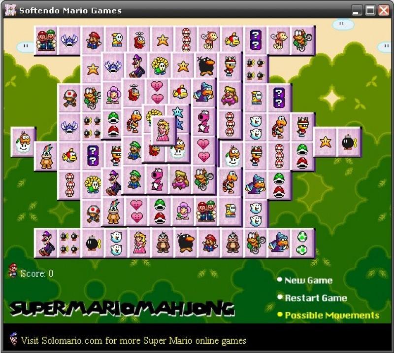 Pantallazo Super Mario Mahjong