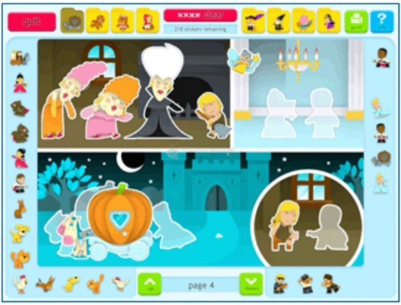 Pantallazo Sticker Activity Pages 4: Fairy Tales