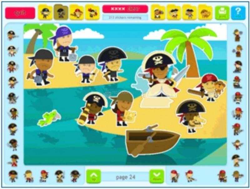 Pantallazo Sticker Activity Pages 5: Pirates