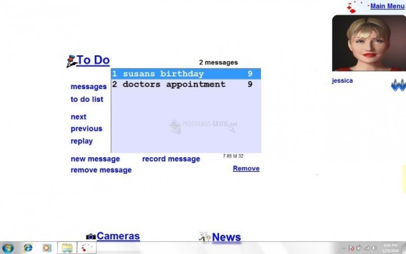 Pantallazo Talking Desktop