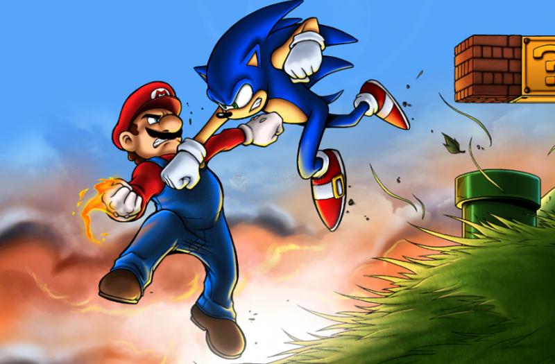Pantallazo Mario vs Sonic