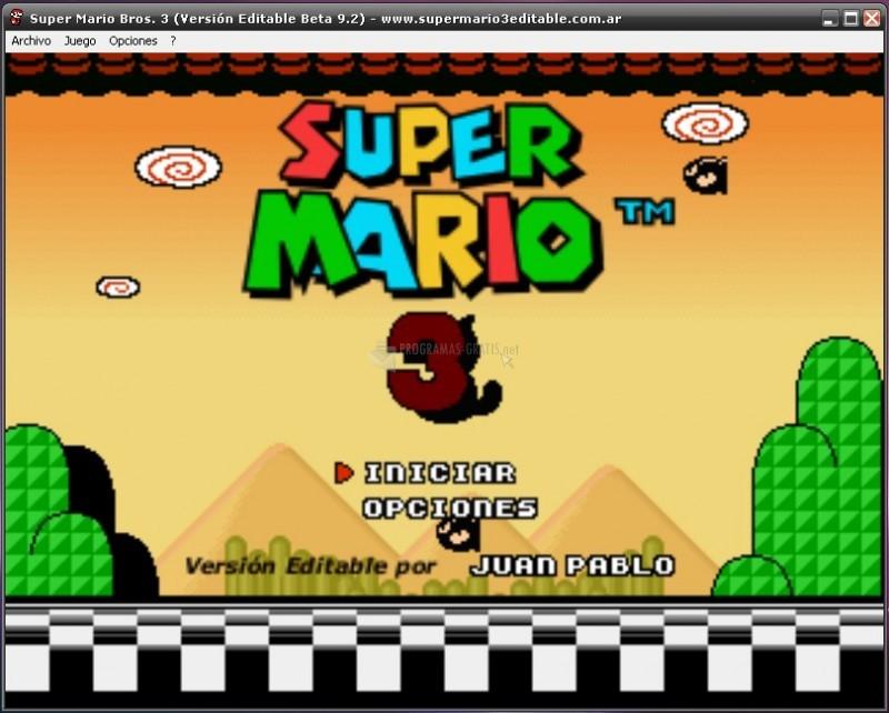 Pantallazo Super Mario 3 Editable