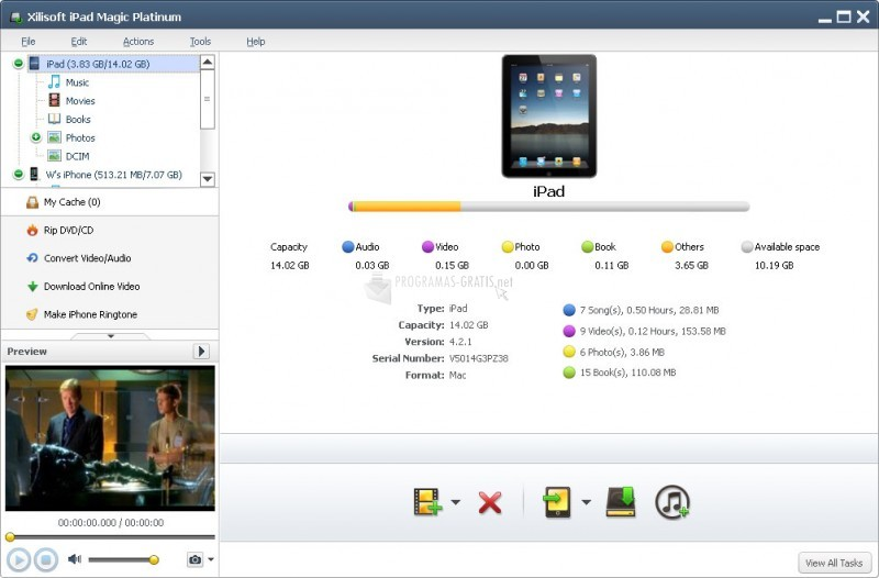 Pantallazo Xilisoft iPad Magic