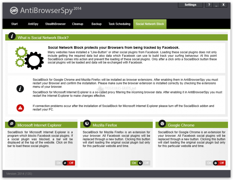 Screenshot AntiBrowserSpy