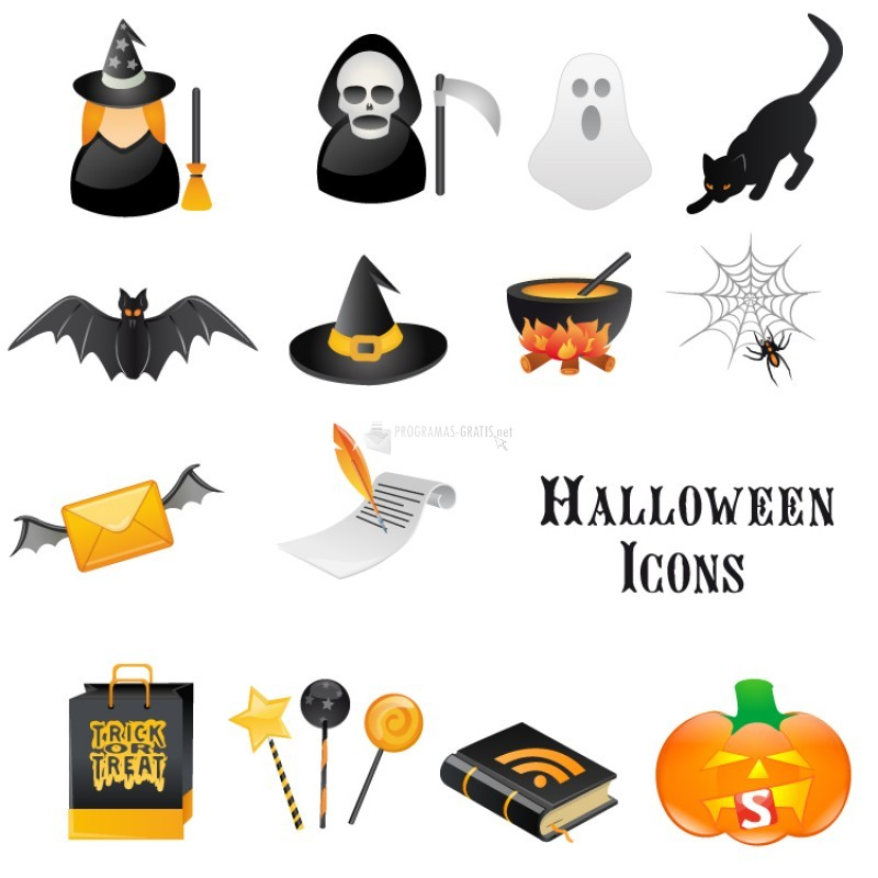 Pantallazo Halloween Vector Icon Set