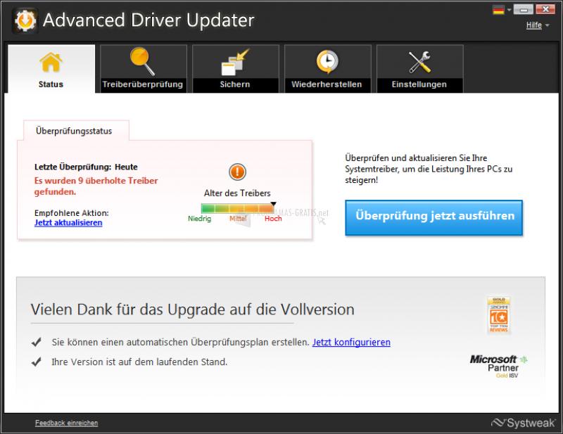 Pantallazo Advanced Driver Updater