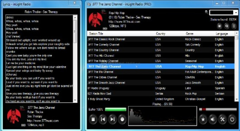 Pantallazo inLight Radio