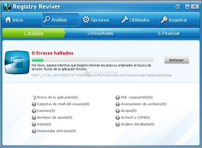 Pantallazo Registry Reviver