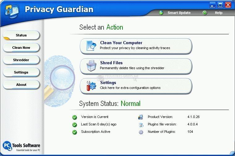 Pantallazo Privacy Guardian