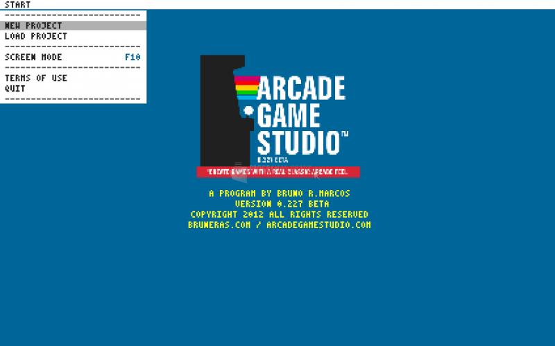 Pantallazo Arcade Game Studio