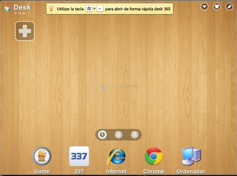 Pantallazo Desk 365