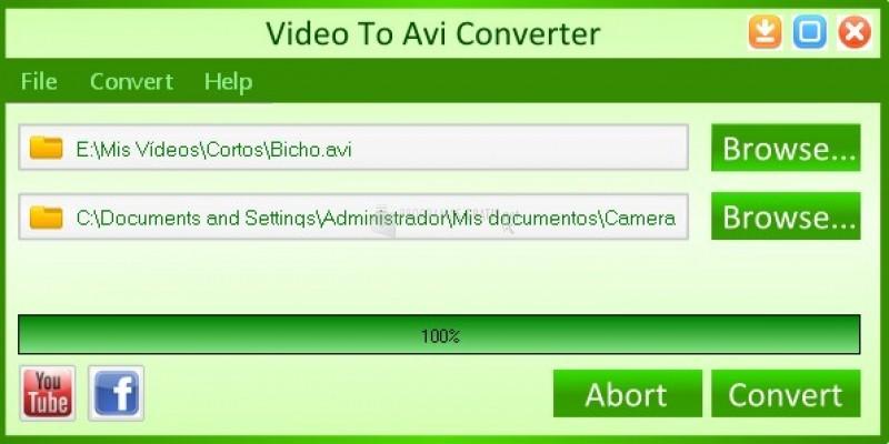 Pantallazo Any Video To AVI Converter