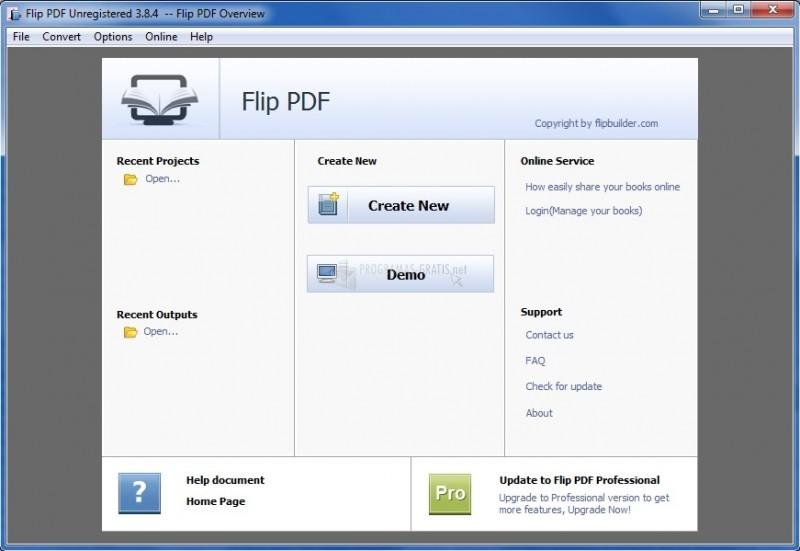 Pantallazo Flip PDF