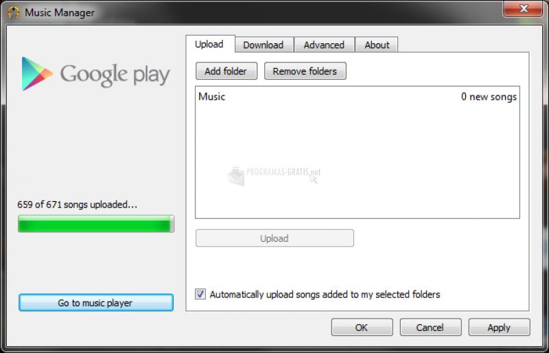 Pantallazo Google Play Music Manager