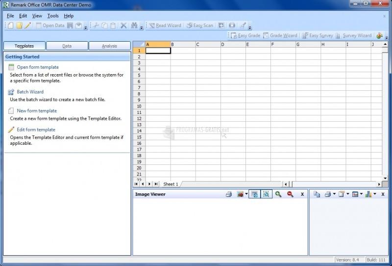Pantallazo Remark Office OMR