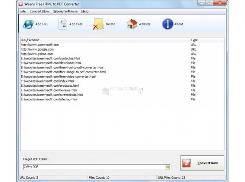 Pantallazo Free HTML to PDF Converter