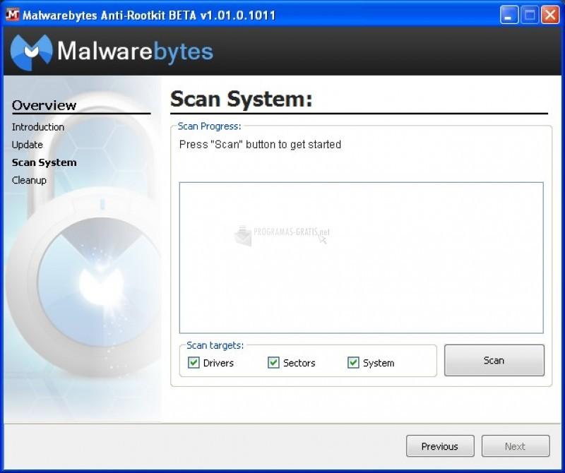 Pantallazo Malwarebytes Anti Rootkit