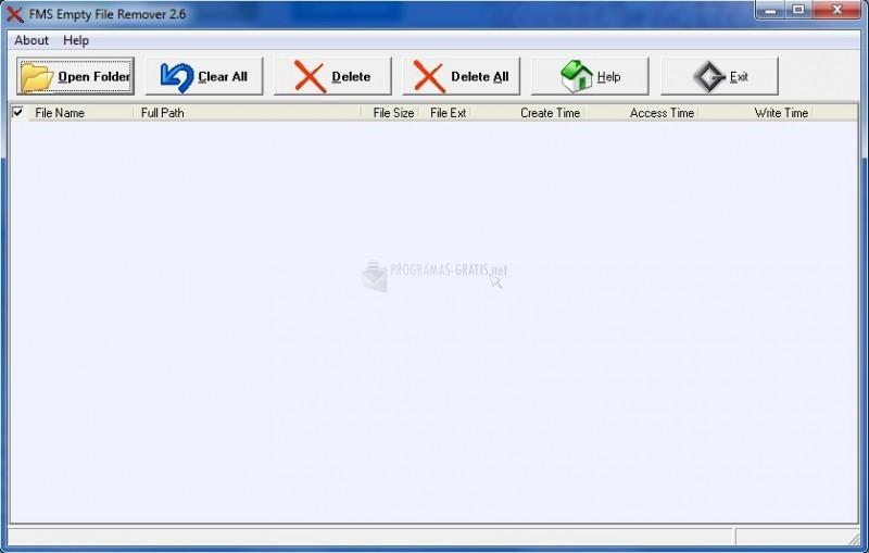 Pantallazo FMS Empty File Remover