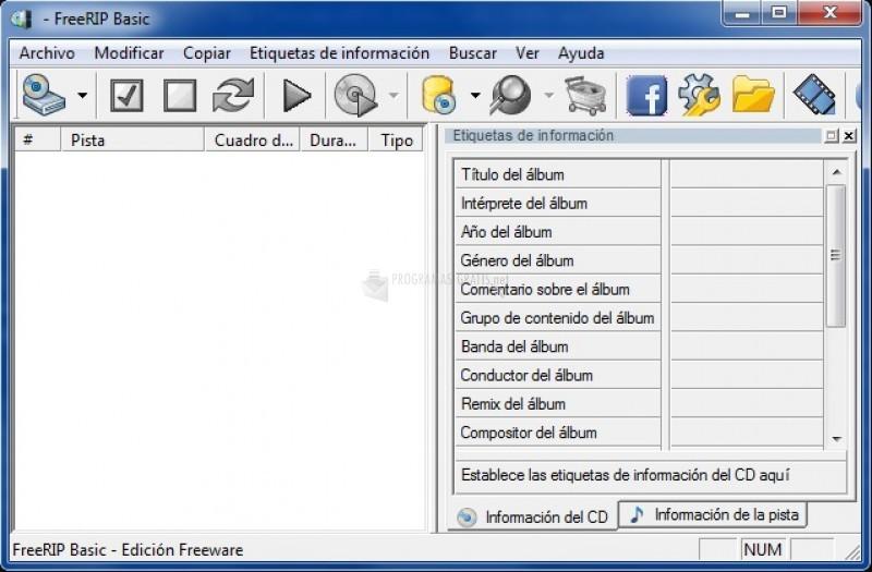 Pantallazo FreeRIP MP3