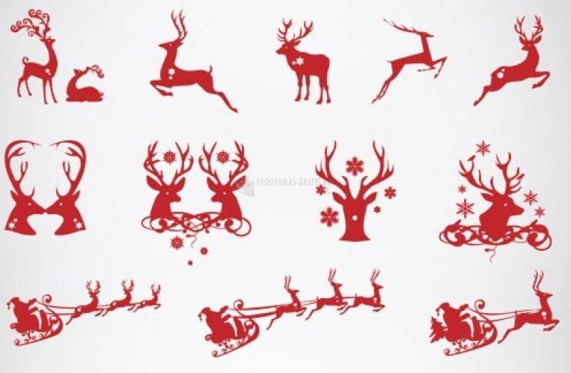 Pantallazo Christmas Silhouettes - Iconos de Navidad