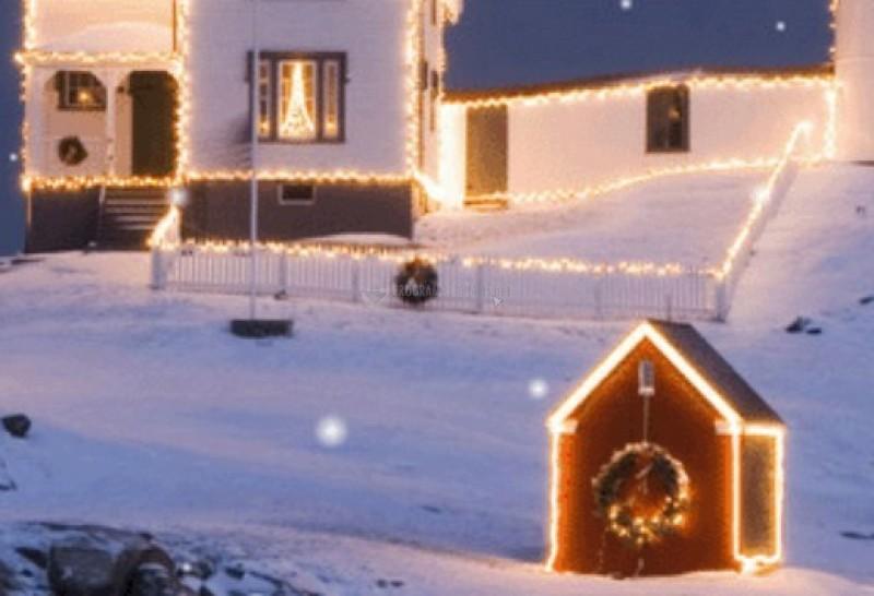 Pantallazo Nieve cayendo en Navidad