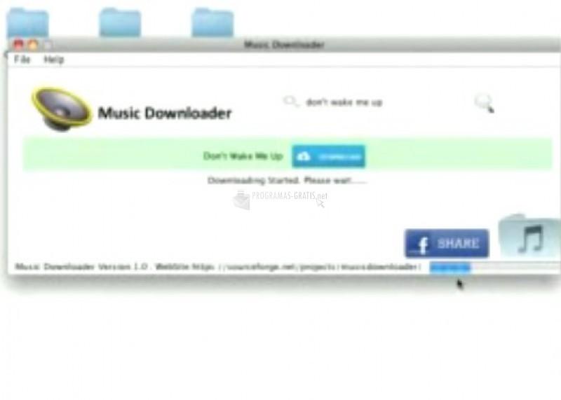 Pantallazo Free Music Downloader