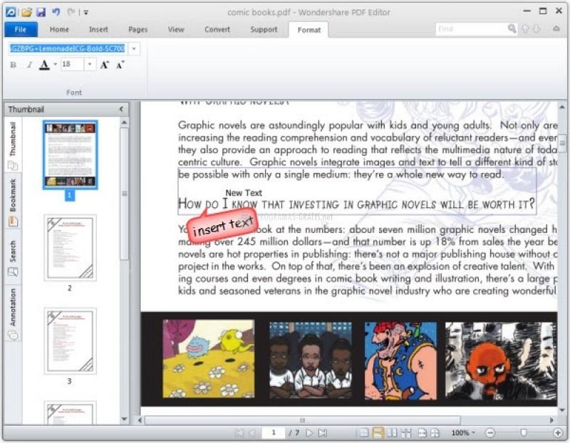 Pantallazo Wondershare PDF Editor