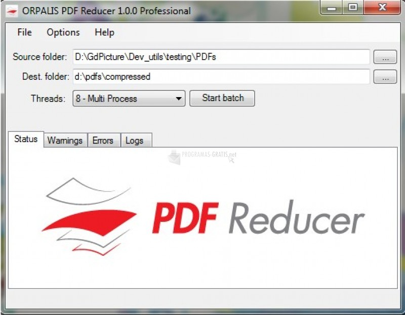 Pantallazo PDF Reducer