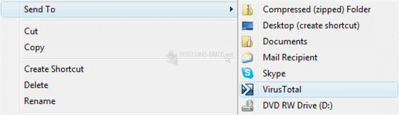 Pantallazo VirusTotal Uploader