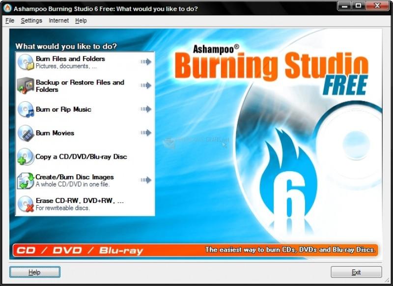 Pantallazo Ashampoo Burning Studio Free