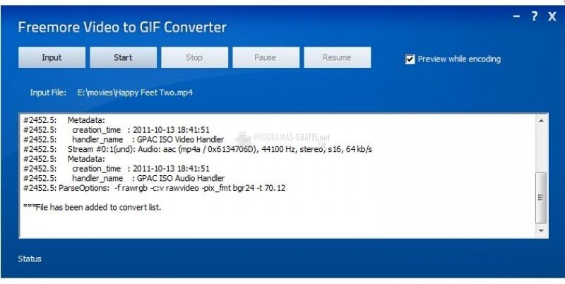 Pantallazo Free Video to GIF Converter