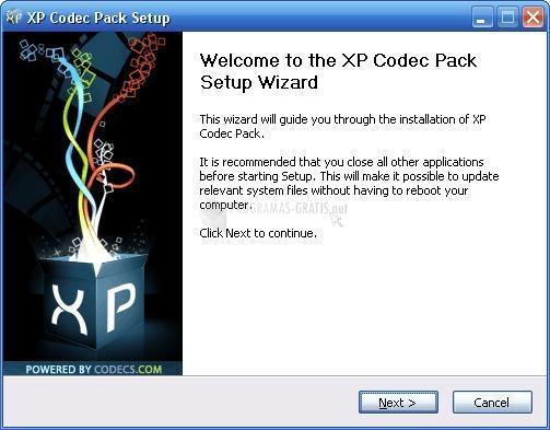 Pantallazo X Codec Pack