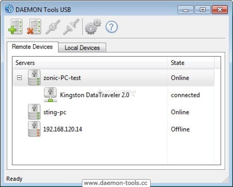 Pantallazo Daemon Tools USB