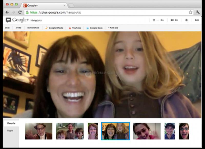 Pantallazo Google+ Hangouts