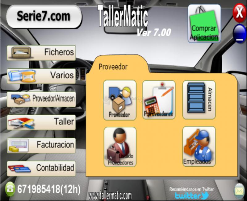 Pantallazo TallerMatic