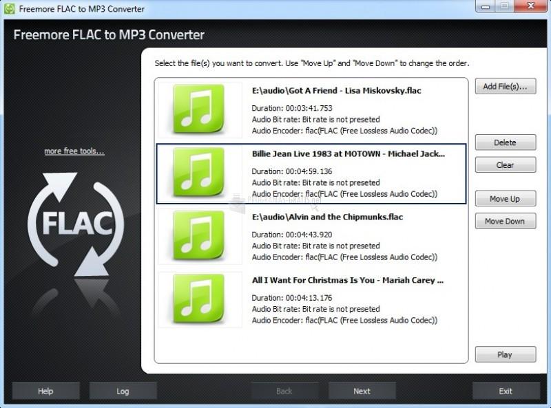 Pantallazo Freemore FLAC to MP3 Converter