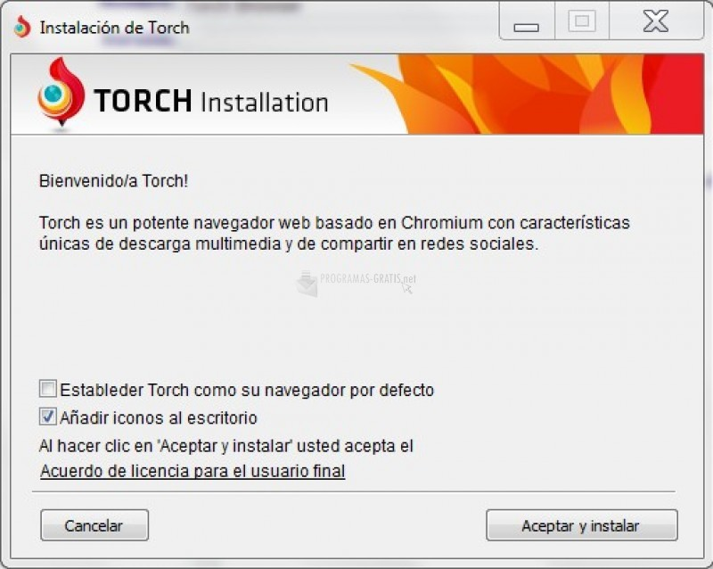 Pantallazo Torch Browser